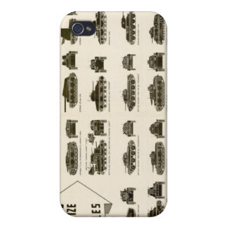 Identification Chart WWII Medium Tanks Cases For iPhone 4