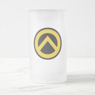 Identitäre movement (Lambda logo) 16 Oz Frosted Glass Beer Mug