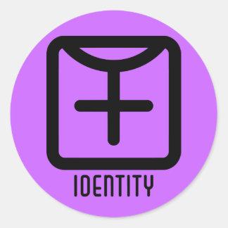 Identity : Female Round Light Sticker