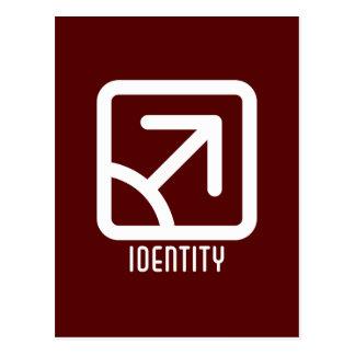 Identity : Male Dark Postcard