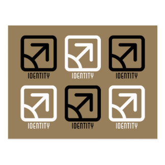 Identity : Male Postcard