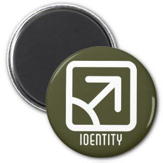 Identity : Male Round Dark Magnet