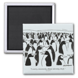 Identity Theft 2 Inch Square Magnet