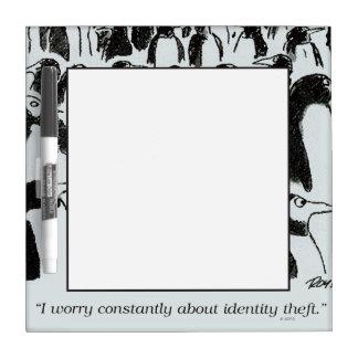 Identity Theft Dry Erase White Board
