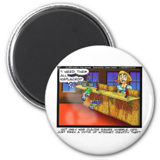 Identity Theft Funny Gifts Tees & Collectibles 2 Inch Round Magnet