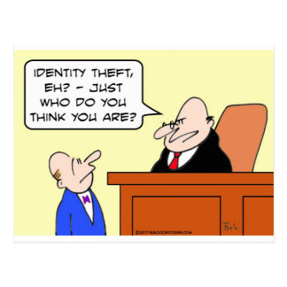 identity theft judge who do you think you are? postcard