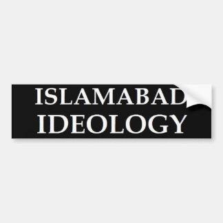 Ideología de Islamabad (blanca en negro) Etiqueta De Parachoque