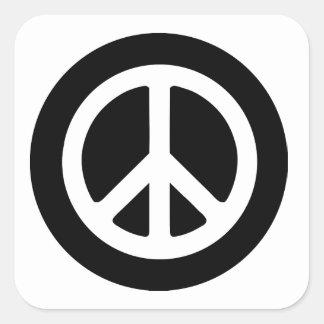 Ideología de la paz pegatina cuadradas