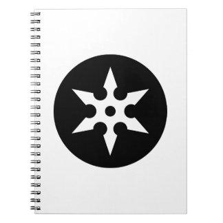 Ideología de Ninja Shuriken Spiral Notebook