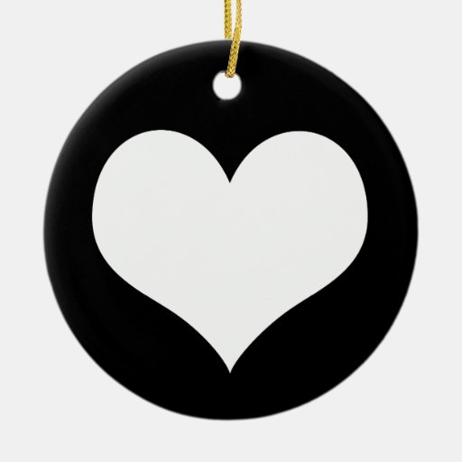 Ideología del amor del corazón adorno navideño redondo de cerámica