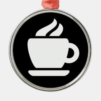 Ideología del café adorno navideño redondo de metal