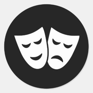 Ideología del drama pegatina redonda