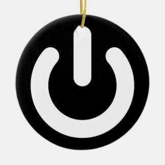Ideología del poder del friki ornamentos de navidad