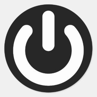 Ideología del poder del friki etiqueta redonda
