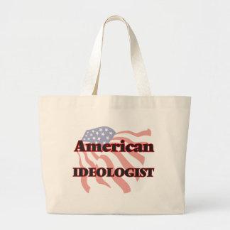 Ideólogo americano bolsa tela grande