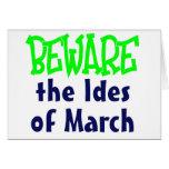 Ides de marzo tarjetas