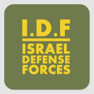 IDF Israel Defense Forces2 - ENG - FULL Square Sticker