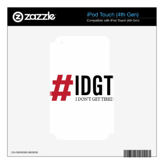 IDGT iPod TOUCH 4G DECAL