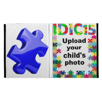 IDIC15 iPad Multicolor Puzzle Folio Case Customize iPad Folio Covers