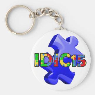 IDIC15 Keychain Blue Puzzle