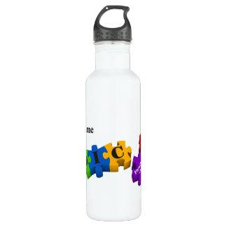 IDIC15 Multicolor Puzzle Customize Water Bottle