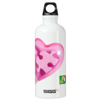IDIC15 Pink Heart Customize Water Bottle