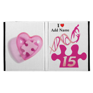 IDIC15 Pink Puzzle Heart iPad Folio Case Customize