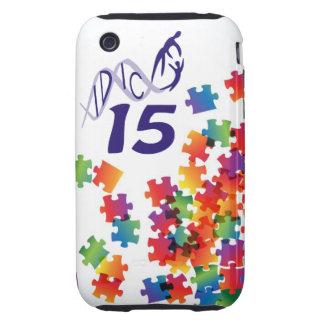 IDIC 15 iPhone 3 Multicolor Puzzle Case Tough iPhone 3 Cover