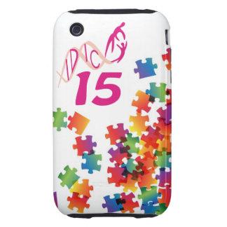 IDIC 15 iPhone 3 Multicolor Puzzle Case Tough iPhone 3 Covers