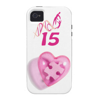 IDIC 15 iPhone 4 Case Pink Heart Puzzle