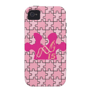 IDIC 15 iPhone 4 Case Pink Puzzle
