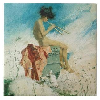 Idilio, 1868 (w/c en el papel) azulejo ceramica