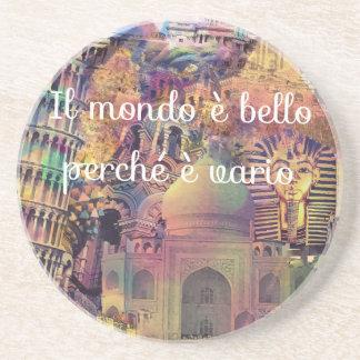 Idioma italiano posavasos para bebidas