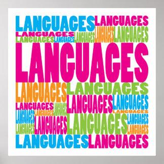 Idiomas coloridas póster