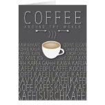 Idiomas del café en todo el mundo felicitacion