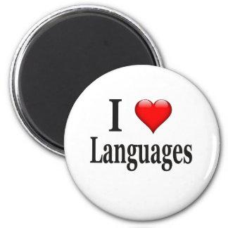 Idiomas del corazón I Imán Para Frigorifico