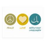 Idiomas medio-orientales del amor de la paz postal