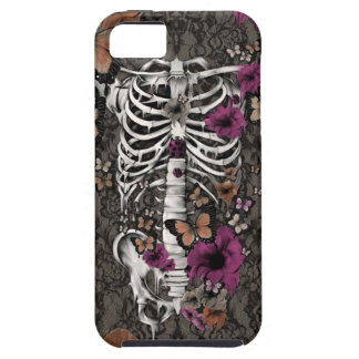 Idiopathic idiot floral lace skeleton iPhone SE/5/5s case