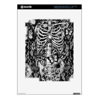Idiopathic idiot, lace rib cage with poppies iPad 3 skins