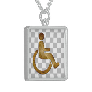 Idiopathic Wheelchair,  Sterling Silver Necklace