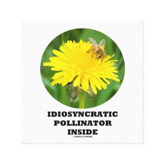 Idiosyncratic Pollinator Inside (Bee On Dandelion) Canvas Print