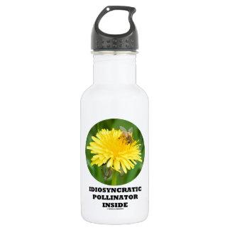 Idiosyncratic Pollinator Inside (Bee On Dandelion) 18oz Water Bottle