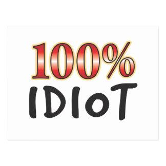 Idiot 100 Percent Postcard