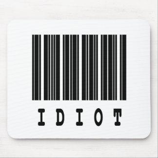 idiot barcode design mouse pad