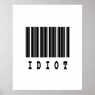 idiot barcode design poster