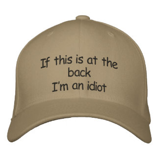Idiot cap embroidered hats