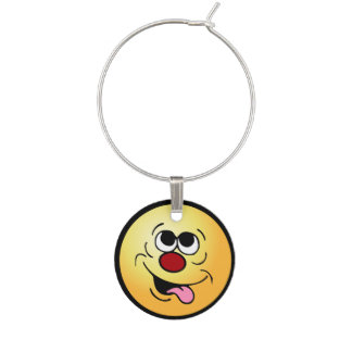 Idiot Face: Can't you hear your village calling? Wine Charms