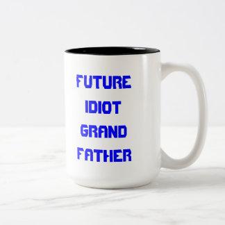 IDIOT GRANDFATHER OF THE FUTURE MUG! Two-Tone COFFEE MUG