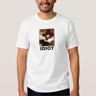 Idiot: Guy Fawkes T Shirts