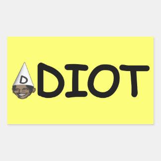 Idiot Obama Rectangular Sticker
